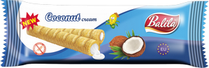 Corn tubes filled with Coconut Cream