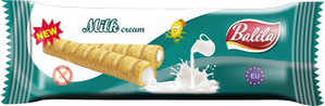 Corn tubes filled with Milk Cream