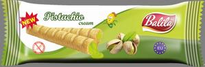 Corn tubes filled with Pistachio Cream